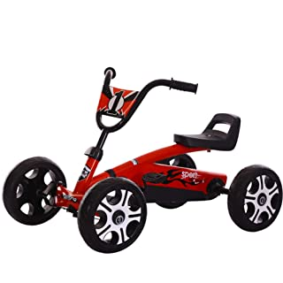 DDCX Children's Four-Wheeled Bicycle 1-3-5-7-9 Years Old Male. Girl Kart Anti-Rollover,Red