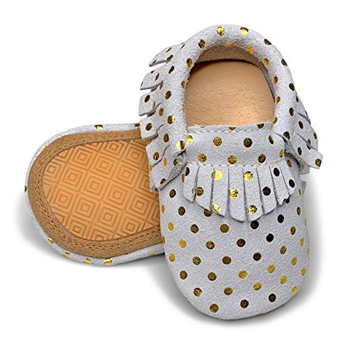 (Lucky Love Baby Moccasins • Premium Leather • Infant, Baby & Toddler Shoes for Girls and Boys)
