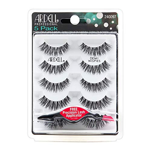 Ardell Demi Wispies Black Lashes 5 Pack + Free Precision Lash Applicator