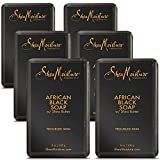 Shea Moisture Soap Bar African Black With Shea Butter 8 Ounce (235ml) (6 Pack)