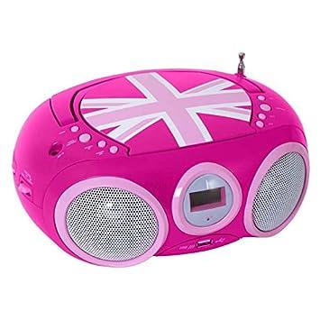 BigBen Interactive CD 32 GB Girly Radio Radio-réveil Lecteur CD ... 996a7f1ea29e