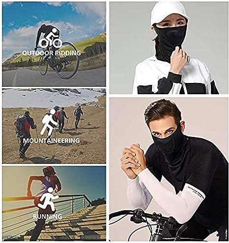 Pasamontañas Moto Verano Mascarilla Bandana Neck Gaiters Protector Facial Unisex para Hombres, Mujeres (Blanco): Amazon.es: Deportes y aire libre