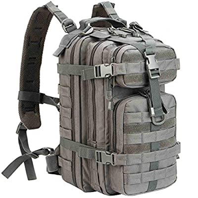 WolfWarriorX Military Tactical Assault Backpack Hiking Bag Extreme Water Resistant Small Rucksack Molle Bug Out Bag for Traveling, Camping, Trekking & Hiking