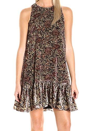 ERIN erin fetherston Women's Robyn Dress, Mocha Multi, 2 - Erin Fetherston Silk