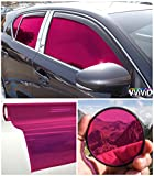 VViViD Colorful Transparent Vinyl Car Window Tinting 30 Inch x 60 Inch 2 Roll Pack (Pink)