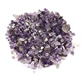 1/2 Pound Tiny to Small Polished Amethyst Chips - Tumbled Stone Irregular Shaped Stones Crystal Quartz Loose Pieces Crushed - 8 oz / 226.8 grams