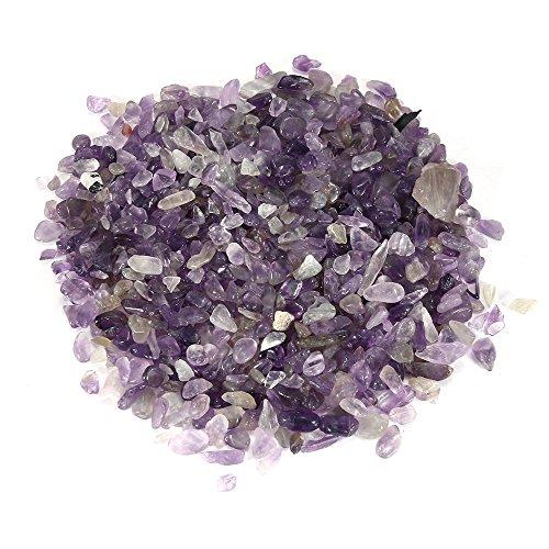 1/2 Pound Tiny to Small Polished Amethyst Chips - Tumbled Stone Irregular Shaped Stones Crystal Quartz Loose Pieces Crushed - 8 oz / 226.8 -