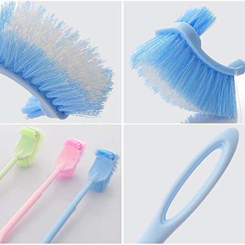 Plastic Long Handle Bathroom Toilet Bowl Scrub Double Side Cleaning Brush Hom