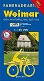 Fahrradkarte Weimar: Mit Erfurt, Kranichfeld, Jena, Bad Sulza und Ilmtal-Radweg. Offizielle Karte des ADFC-Landesverbandes Thüringen. Maßstab 1:50.000. Wasser- und reißfest. (Fahrradkarten)