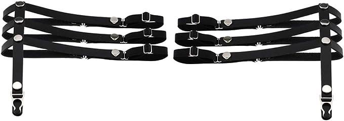 non-brand 1 Paio Cintura Reggicalze Da Donna Elastico E Regolabile Punk Stile