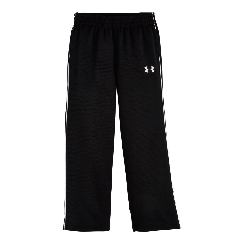 Under Armour Little Boys' Midweight Warm-Up Pant, Black, 7 by Under Armour