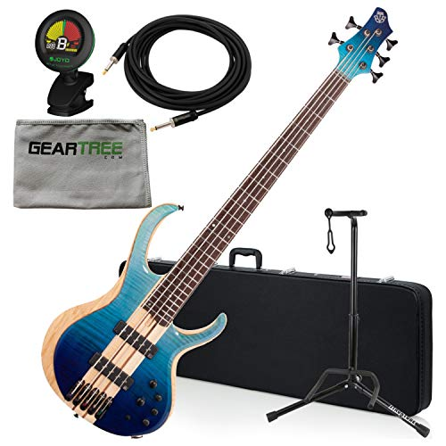 (Ibanez BTB20TH5BRL BTB 20th Anniversary 5-String Bass - Blue Reef Gradation)