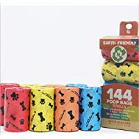 Biodegradable Lavender Scented Dog Poop Bags Multi Color 144 Count 8 Rolls Refill Pack