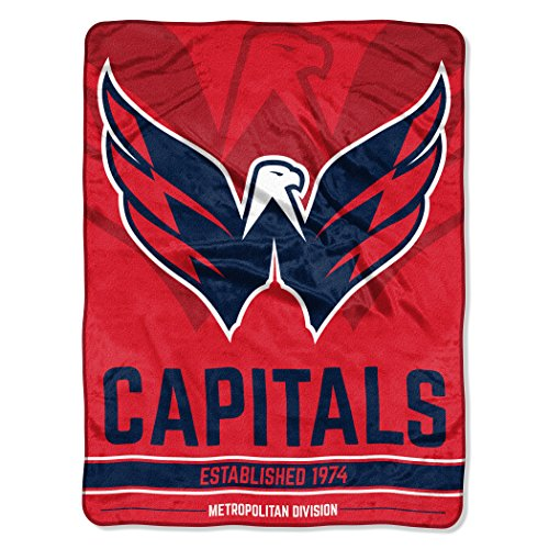 (The Northwest Company Officially Licensed NHL Washington Capitals Break Away Micro Raschel Throw Blanket, 46