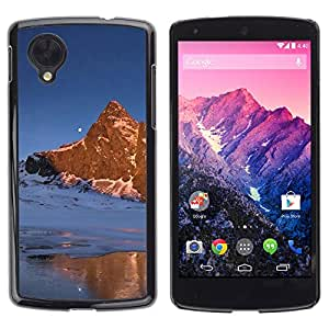 Estuche Cubierta Shell Smartphone estuche protector duro para el teléfono móvil Caso LG Google Nexus 5 D820 D821 / CECELL Phone case / / Nature Moon Mountain /