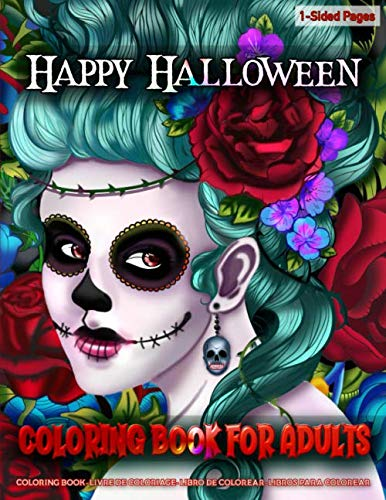 Halloween Coloring Pages Spiders (Coloring Book for Adults | Happy Halloween: Coloring Book for Grown-Ups Featuring Beautiful Halloween Coloring Page to Help Relieve Stress and Anxiety | Mindfulness Coloring)
