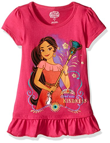Disney Girls' Little Girls' Elena of Avalor T-Shirt, Pink, 6