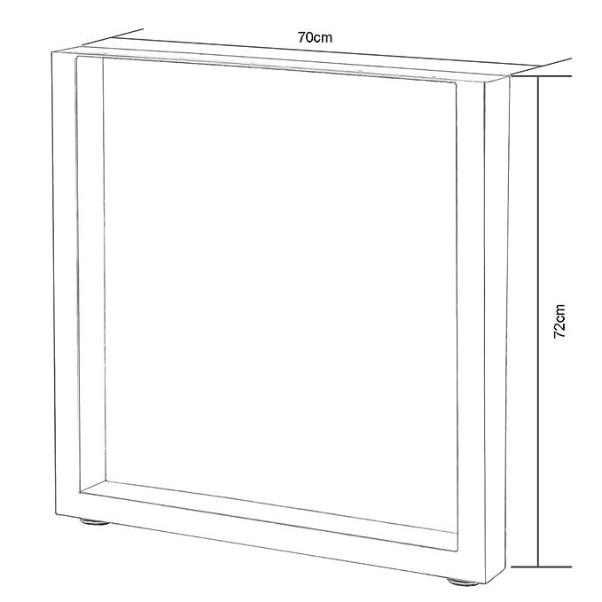 Gr/ö/ße:64 x 40 cm 2 Tischbeine Tischgestell Kufengestell Tischuntergestell V2Aox Gr/ö/ßenauswahl