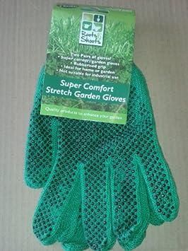 PMS 2 pares de guantes de jardín elásticos con lunares en H /