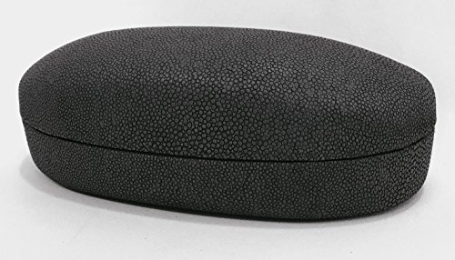 Hard Shell Protective Eyeglass Case, X-Large Case Holder For Glasses And Sunglasses - Men And Women (Black)