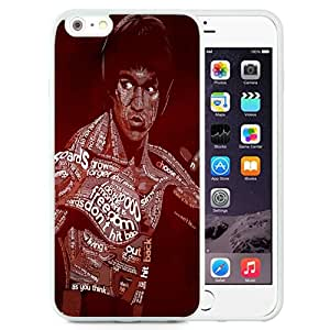 NEW Unique Custom Designed iPhone 6 Plus 5.5 Inch Phone Case With Bruce Lee Typography_White Phone Case