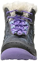 Jambu Magnolia Mid Waterproof Boot (Little Kid/Big Kid), Grey/Lilac, 3 M US Little Kid