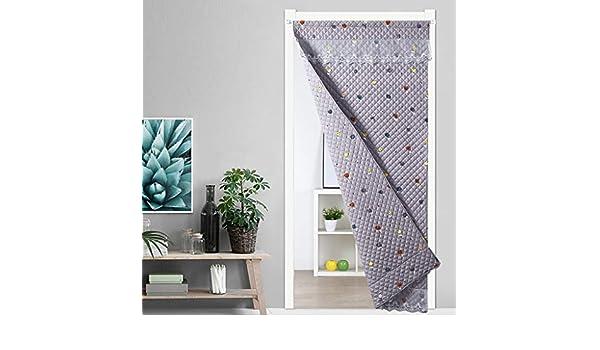 CUIS- De doble cara de algodón con encaje cortina, cortina de reparto en frío Protección contra el viento, Insonorización sin extinción de invierno caliente cortina de puerta, 0.24inch espesor, Multi-: Amazon.es: Hogar