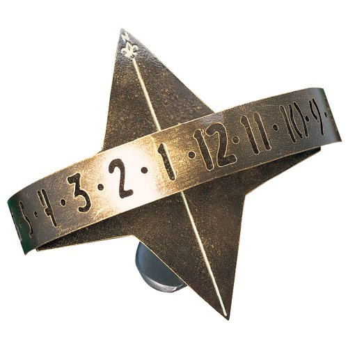 Whitehall Products, Sun Clock Aluminum Sundial 01268, 11.5 inches wide by 9.5 inches high, french bronze