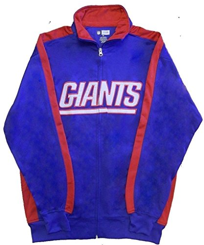 New York Giants NFL End Zone Full Zip Mens Track Jacket Big & Tall Sizes (MT)