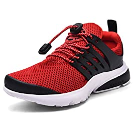 Boys Girls Sneakers Kids Running Sports Tennis Athletic Slip on Walking Jogging Shoes Non-Slip Lightweight Breathable…