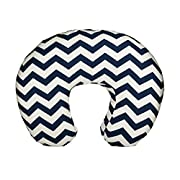 Org Store Premium Nursing Pillow Cover | Slipcover for Breastfeeding Pillows | Chevron Patterned (Navy)