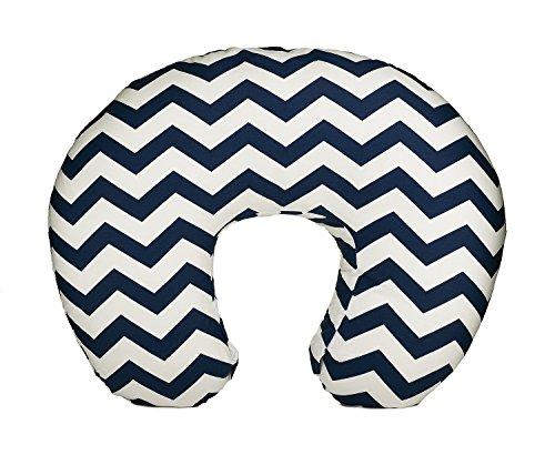 Org Store Premium Nursing Pillow Cover | Slipcover for Breastfeeding Pillows | Chevron Patterned (Navy)