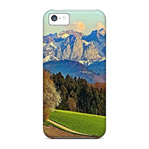 Hot Tpye Fields In A Meadow Facing Mountain Range Case Cover For Iphone 5c
