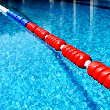 Buy 1M Spiral Shape Swimming Pool Lane Line Swimming Lane ...