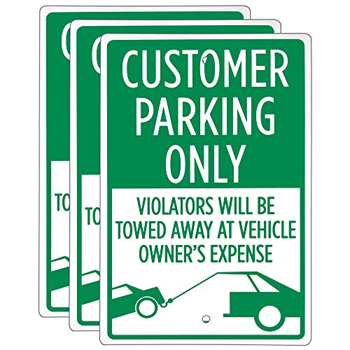 Customer Parking Only Sign (3-Pack) - 18