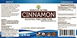 Cinnamon Tincture Alcohol-FREE Liquid Extract, Organic Cinnamon (Cinnamomum Verum) Dried Bark (2 FL OZ)