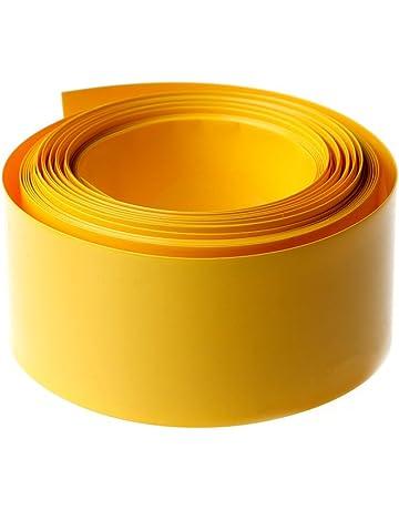 JOYKK 5 m PVC Tubo termorretráctil Juego de Envoltura de Tubo para 18650 18500 Batería Plana