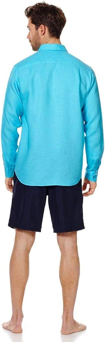 Vilebrequin - Men Linen Shirt Solid Horizon