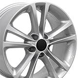 vw rims 18 - OE Wheels 17 Inch Fits Volkswagen GTI Jetta EOS CC Tiguan Rabbit Passat Golf Beetle VW CC Style VW19 Painted Silver 17x8 Rim Hollander 69888