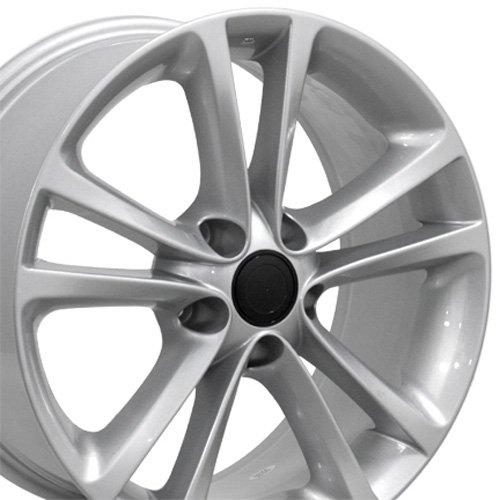 Rim Golf Vw Wheel (OE Wheels 17 Inch Fits Volkswagen GTI Jetta EOS CC Tiguan Rabbit Passat Golf Beetle VW CC Style VW19 Painted Silver 17x8 Rim Hollander 69888)