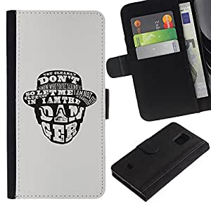 Planetar® Colorful Pattern Flip Wallet Leather Holster Protective Skin Case Cover For Samsung Galaxy S5 Mini / SM-G800 (Not For S5!!!) ( I Am The Danger )
