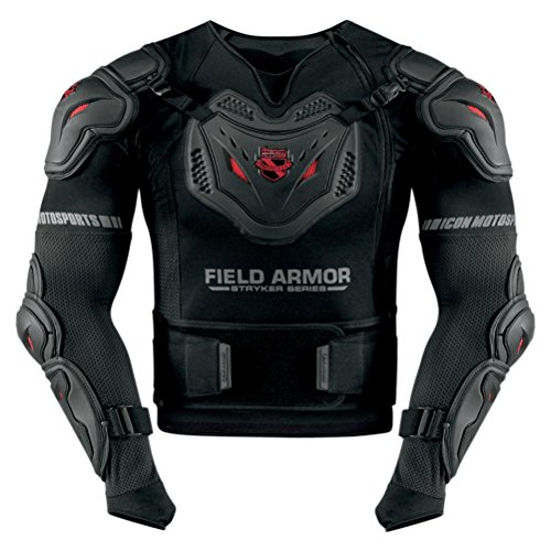 Icon Stryker Rig Men's Field Armor Street Motorcycle Body Armor - Black / Medium/Large (Field Of Armor)
