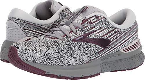 Brooks Women's Adrenaline GTS 19 Grey/White/Fig 5 B US by Brooks (Image #3)