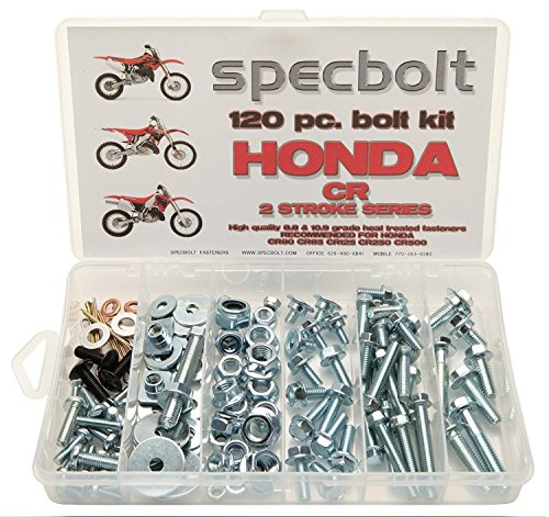 Specbolt Fasteners 120pc Maintenance Restoration OE Spec Motorcycle Bolt Kit for Honda CR 2 Stroke MX Dirtbike CR80 CR85 CR125 CR250 CR500 ()