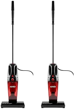 Eureka 169K 2-in-1 Quick-Up Bagless Stick Vacuum Cleaner for Bare Floors and Rugs, 169J+Filter, Light Red (Two Pack)