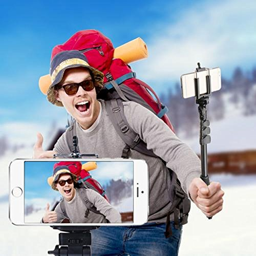 Cell Accessories For Less (TM) Monopod Selfie Stick with Built-in Wireless Remote Control for Samsung Galaxy Alpha G850 Bundle (Stylus & Micro Cleaning Cloth) - By TheTargetBuys outlet