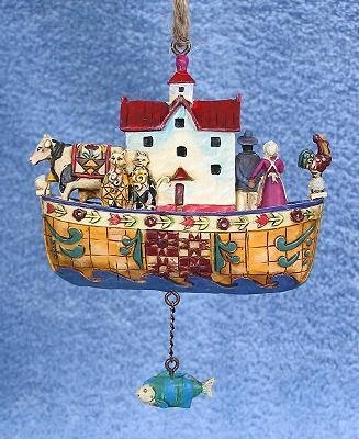 Jim Shore - Heartwood Creek - Noahs Ark Ornament by Enesco - (Noahs Ark Jim Shore)
