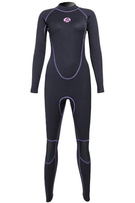 Amazon.com  Micosuza Women Full Body Wetsuits Premium 3mm Neoprene ... 1170b0155