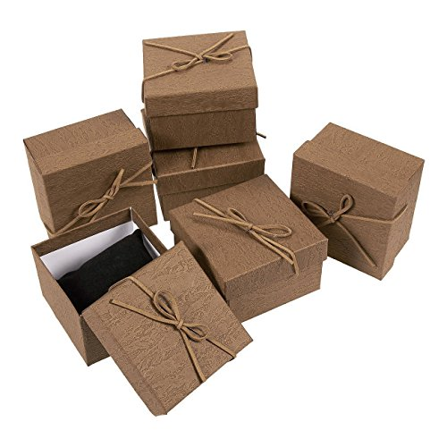 (6-Piece Gift Box Set - Jewelry Gift Boxes for Anniversaries, Weddings, Birthdays - 3.5 x 2.3 x 3.5 Inches)