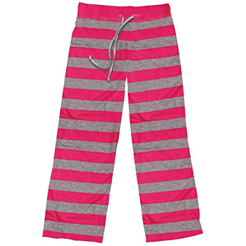 Stephen Joseph Little Girls' Lounge Pants, Hot Pink, (Kids Girls Pajamas Bottoms)